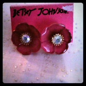 Betsy Johnson pierced earrings